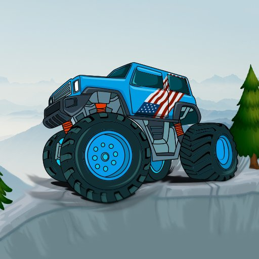 Monster Truck Dağ Tırmanma